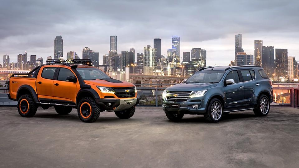 Компания Chevrolet намекнула на дизайн обновленных Colorado и Trailblazer