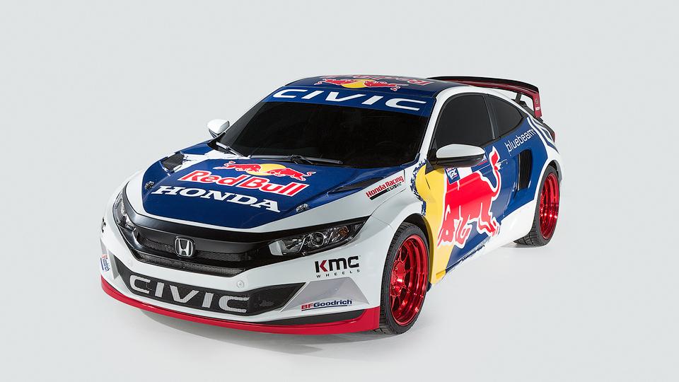 Новое купе Honda Civic подготовили для ралли-кросса