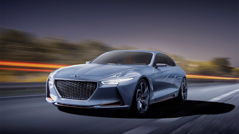 Марка Genesis представила концептуальный седан New York Concept. Фото 1