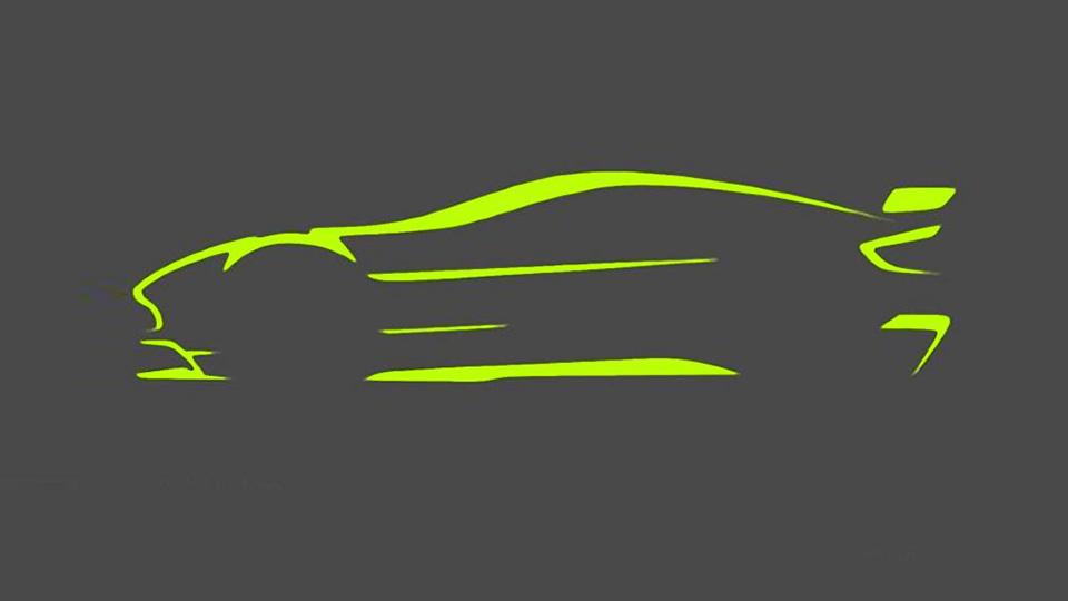 Aston Martin показал силуэт нового трекового купе