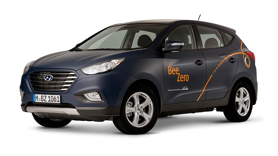 В Мюнхене можно будет взять напрокат Hyundai ix35 на топливных элементах. Фото 1