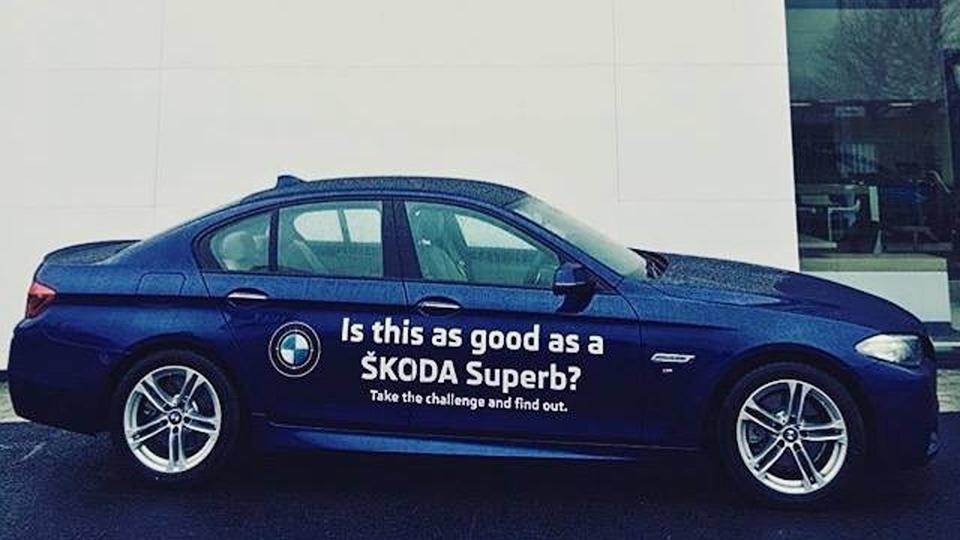 Фирма Pilsen Auto придумала кампанию по продаже Skoda Superb