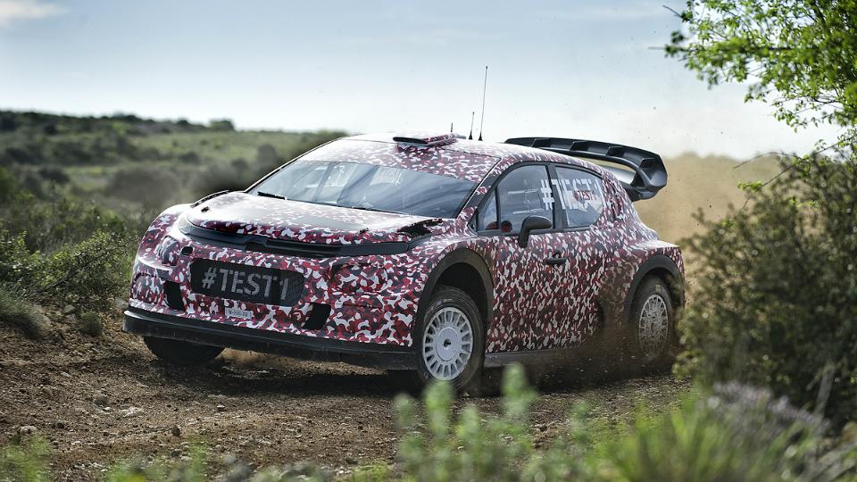 Французская команда провела испытания хэтчбека для чемпионата WRC