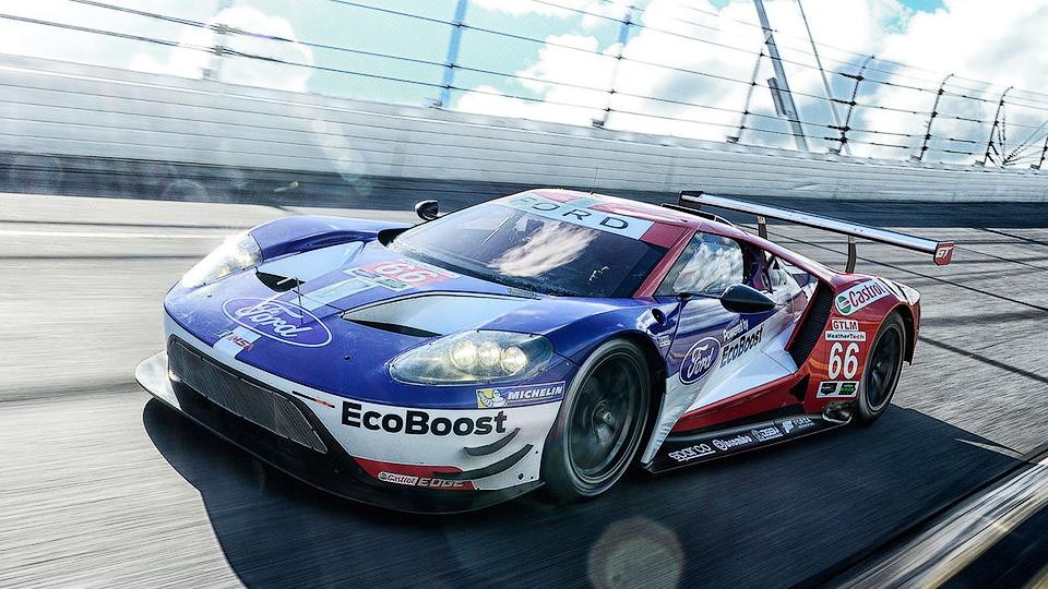 Онборд гоночного Ford GT показали в 360 градусах