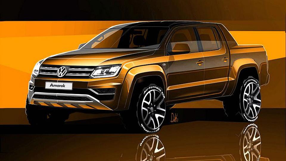 Volkswagen показал дизайн обновленного Amarok
