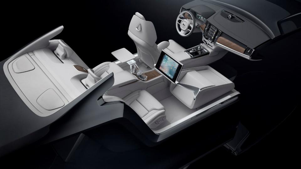 Шведская марка показала концептуальный интерьер на базе модели S90