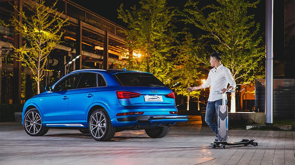 В Audi Q3 встроили электрический лонгборд