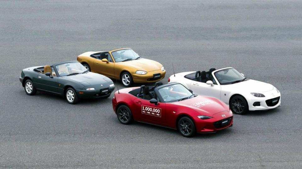 Модель Mazda MX-5 выпускают с 1989 года. Фото 1