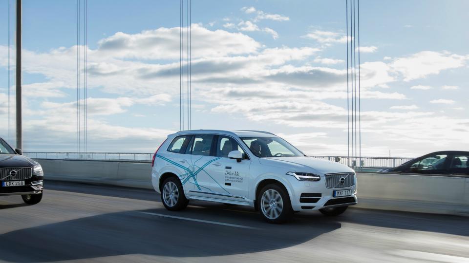 На дороги британской столице выведут сто автономных Volvo XC90