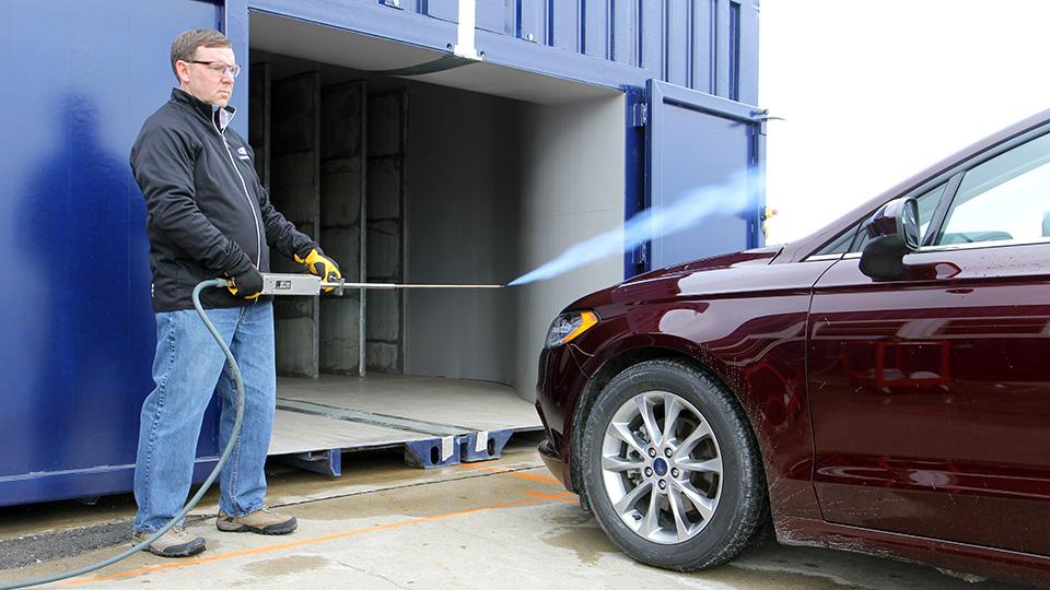 Ford показал мобильный аэродинамический туннель