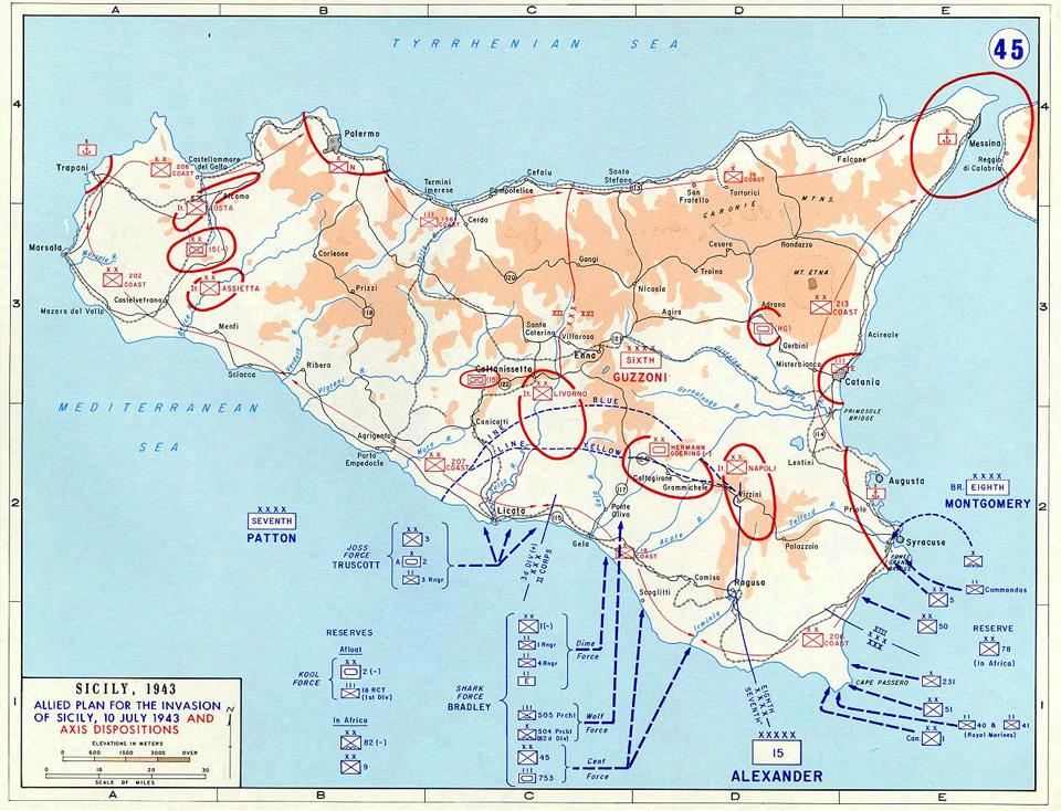 Высадка союзников на Сицилии 1943 года как первое появление «Джипов» в Европе. Фото 2