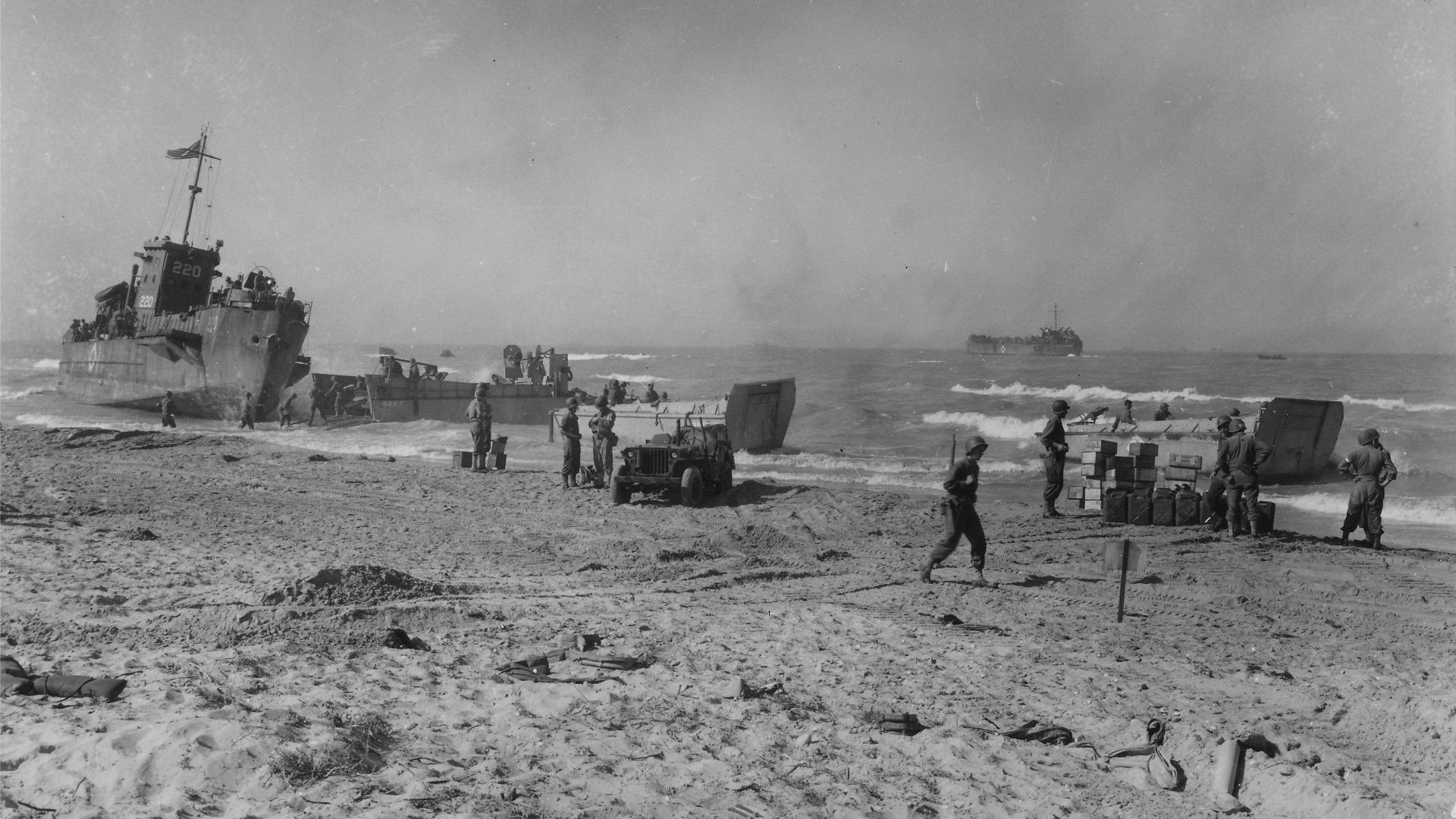 Высадка союзников на Сицилии 1943 года как первое появление «Джипов» в Европе. Фото 5