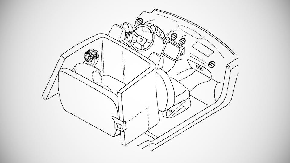 Ford придумал для пассажиров надувную клетку безопасности