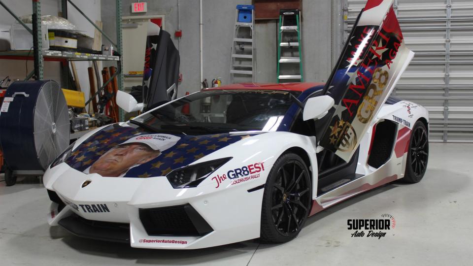 Суперкар Aventador посвятили кандидату в президенты США. Фото 1