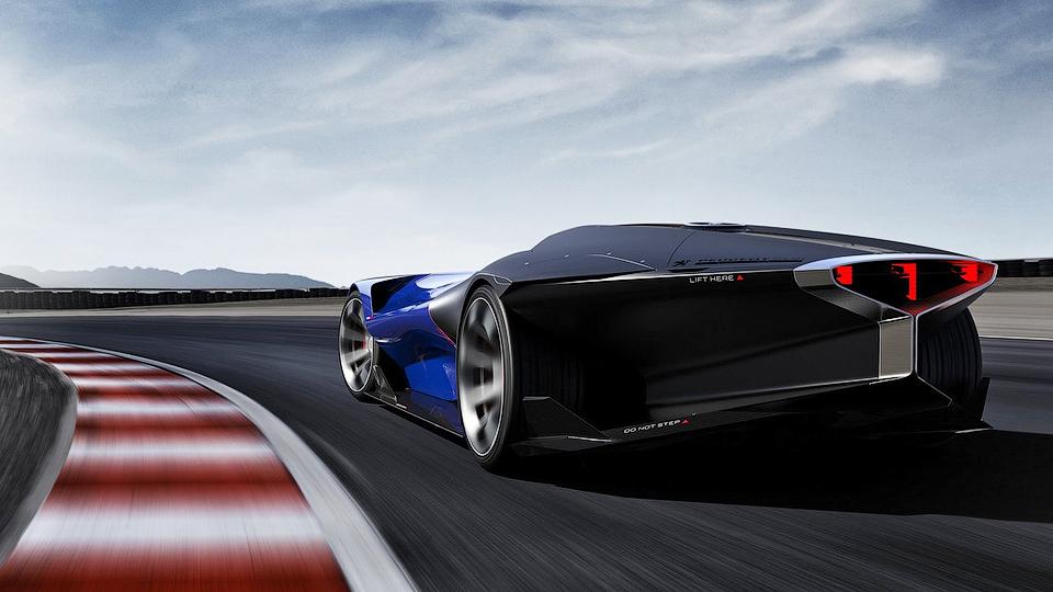 Футуристичный гибридный прототип наберет «сотню» за2,5 секунды