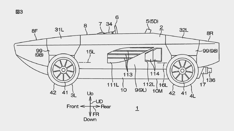Yamaha получила патент наплавающий автомобиль