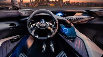 В интерьере Lexus появятся голографические элементы. Фото