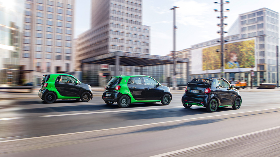 Все семейство новых автомобилей Smart перевели наэлектротягу