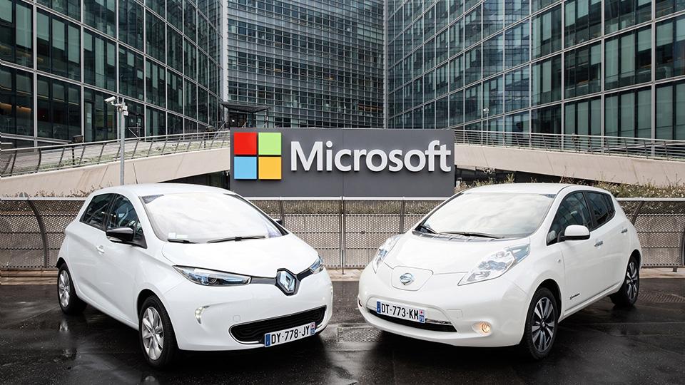 Автомобили Рено и Ниссан будут оборудованы облачными сервисами отMicrosoft