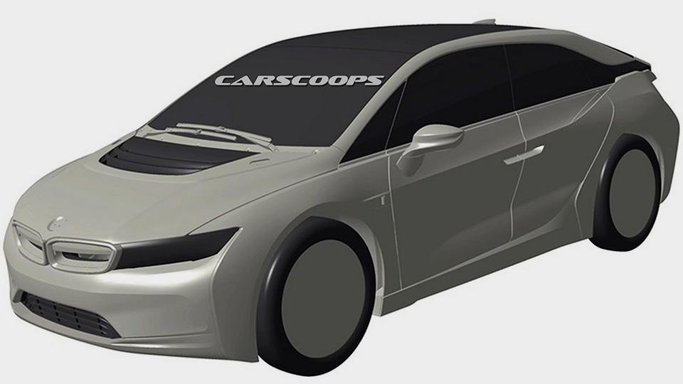 Всети интернет появились изображения нового автомобиля БМВ i5
