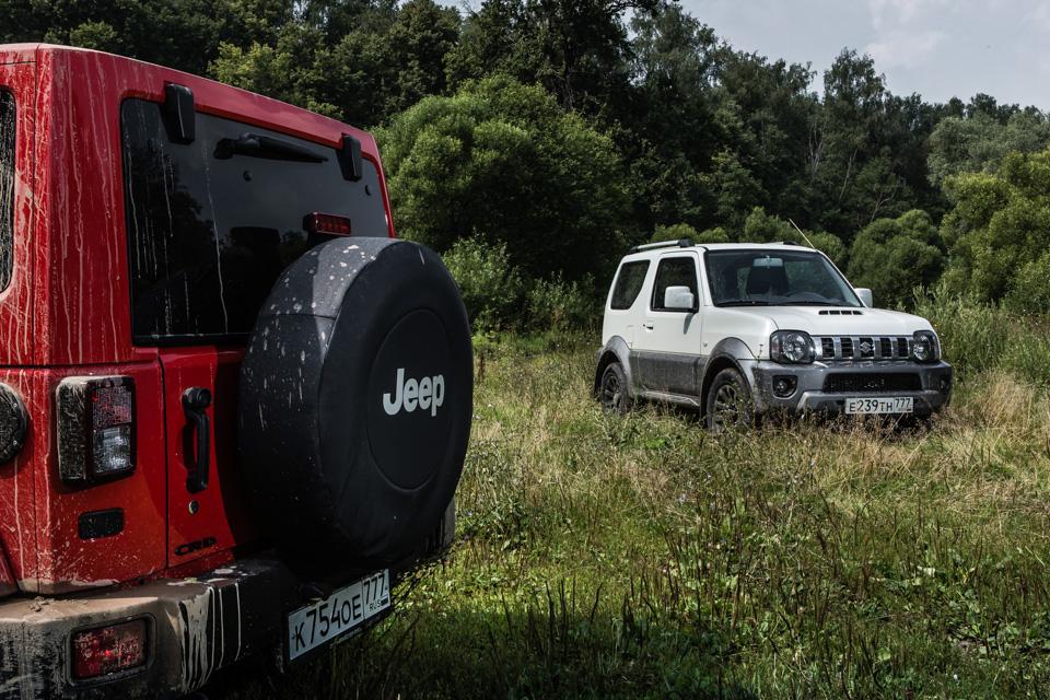 Неочень одухотворенные приключения Suzuki Jimny иJeep Wrangler набездорожье. Фото 1
