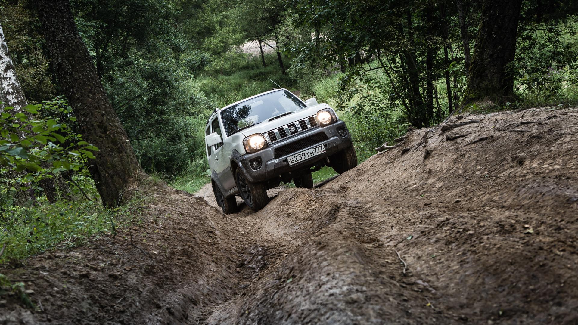 Неочень одухотворенные приключения Suzuki Jimny иJeep Wrangler набездорожье. Фото 14