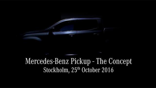 Детали внешности пикапа Mercedes-Benz раскрыли навидео