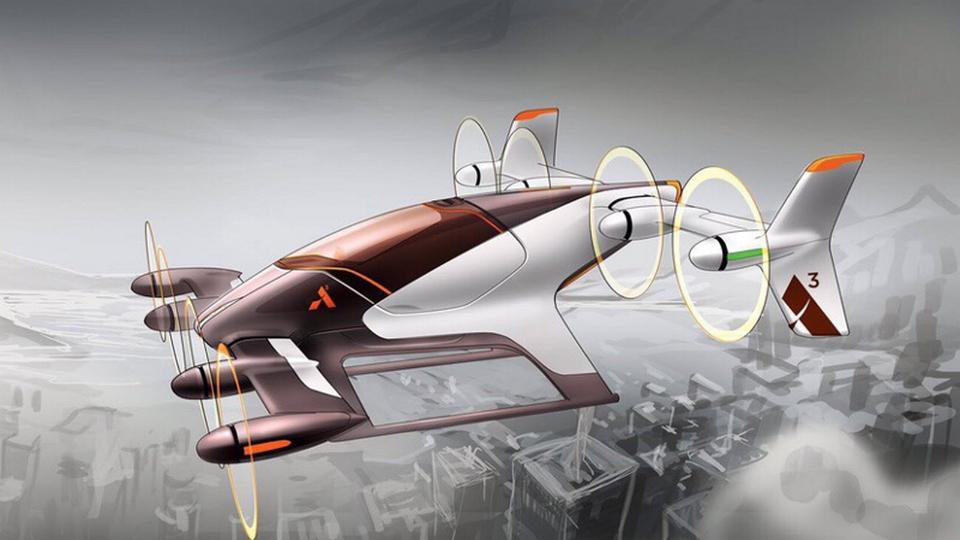 Airbus представил концепт-кар летающего такси