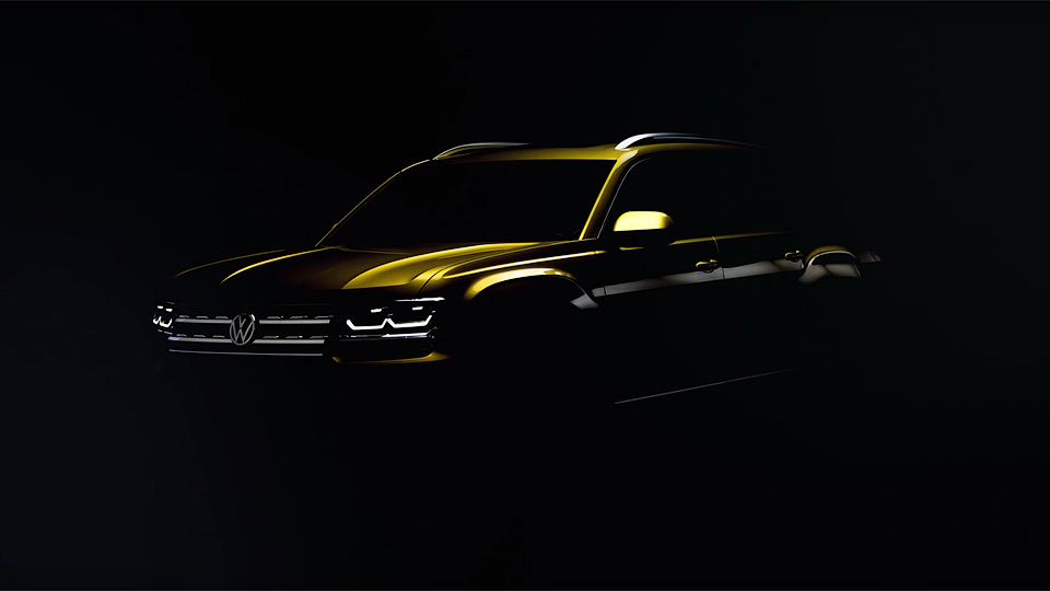 Volkswagen намекнул надизайн семиместного кроссовера