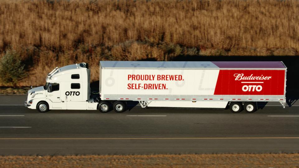 Беспилотный грузовик сделал первую доставку товара