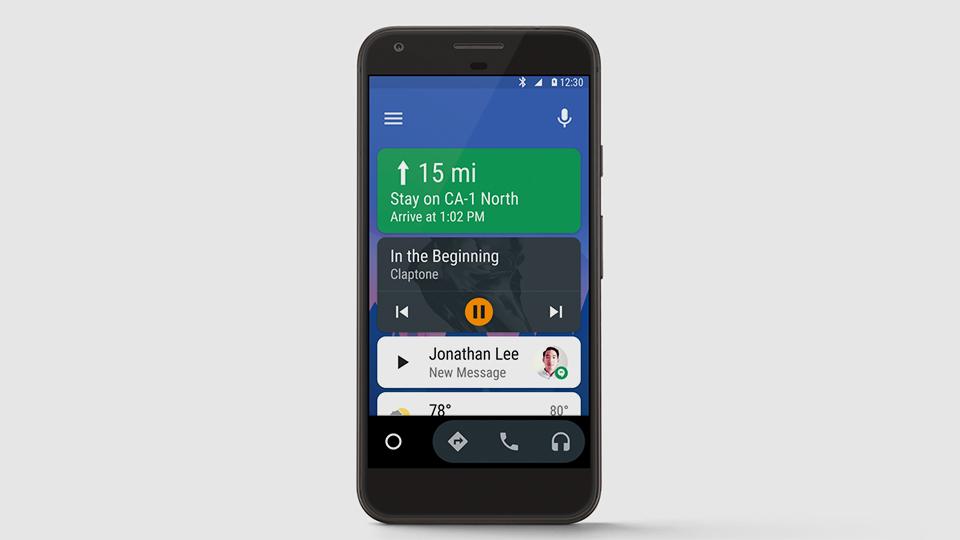 Систему андроид Auto обучили работать на телефонах
