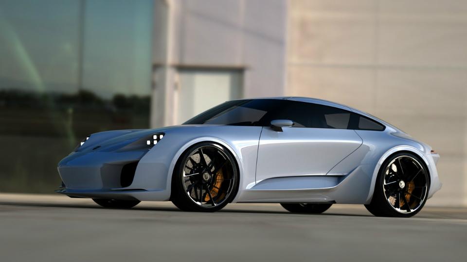 Дизайнер Bugatti Chiron представил свой вариант внешности Porsche 911