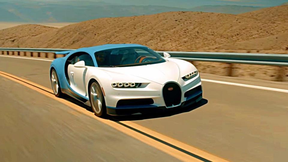 Bugatti испытала гиперкар Chiron вДолине Смерти