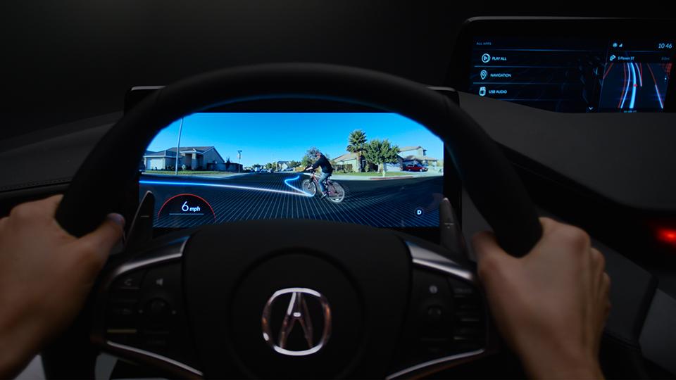 Acura научит беспилотники транслировать движение других машин через приборку. Фото 1