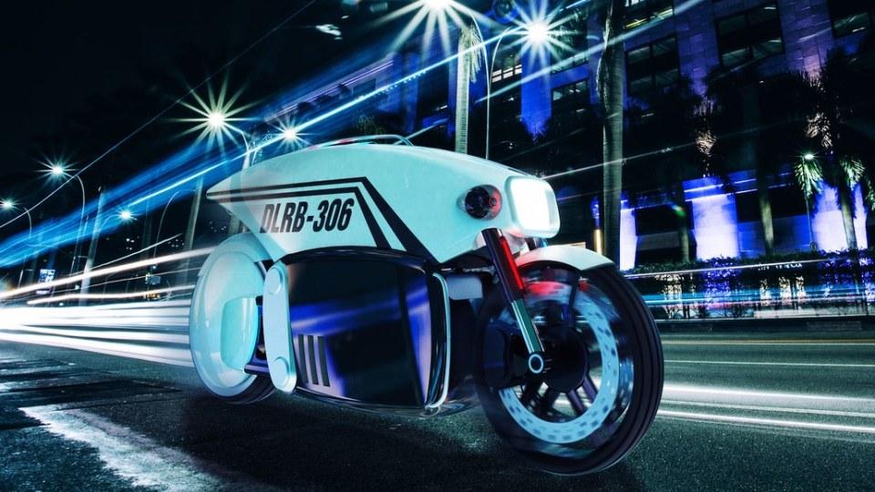 Дизайнер придумал беспилотный мотоцикл для полиции