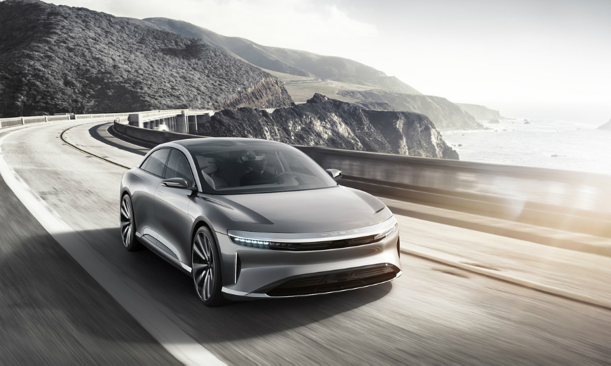 Lucid Motors представил 1000-сильный электроседан Air