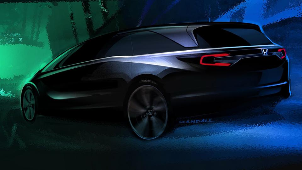 «Хонда» показала силуэт минивэна Odyssey нового поколения