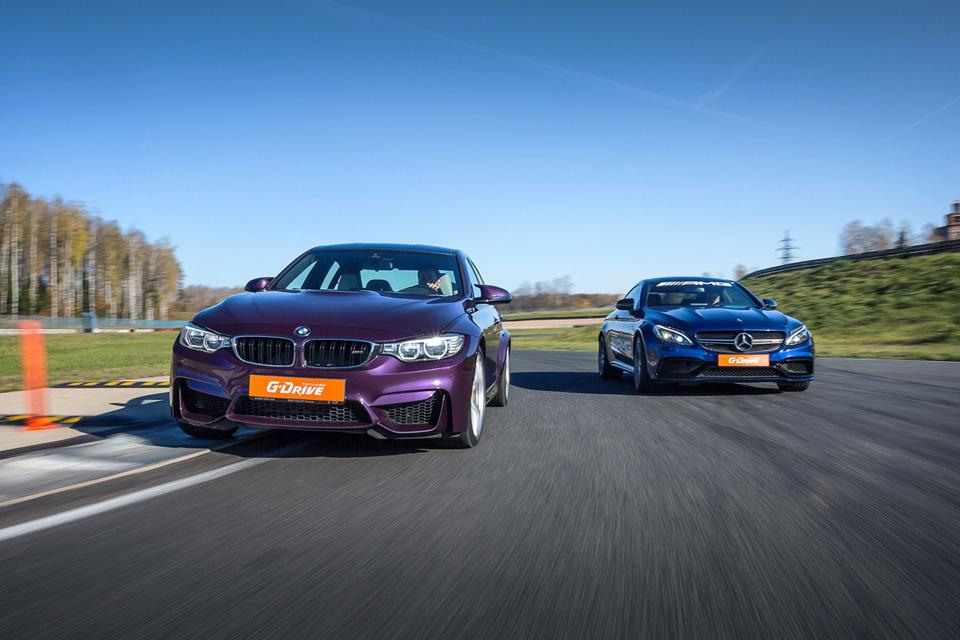 Битва года: BMW M3 против Mercedes-AMG C63