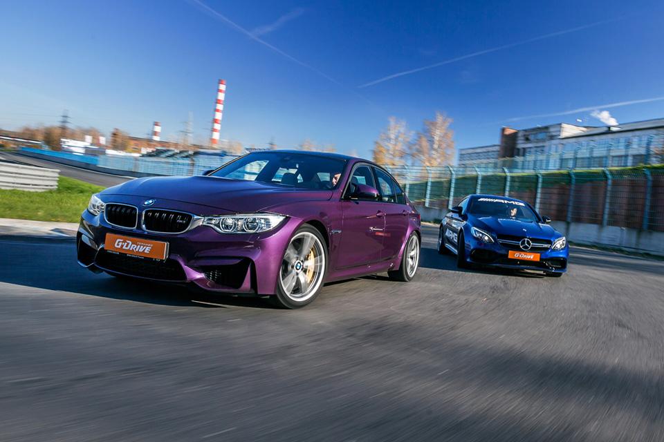 Битва года: BMW M3 против Mercedes-AMG C63. Фото 9