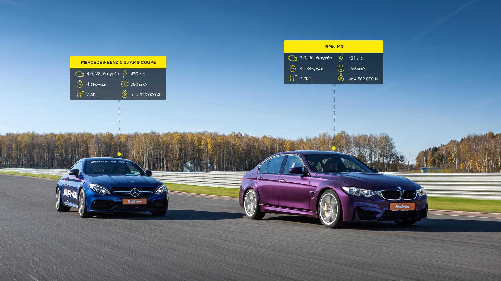 Битва года: BMW M3 против Mercedes-AMG C63. Фото 6