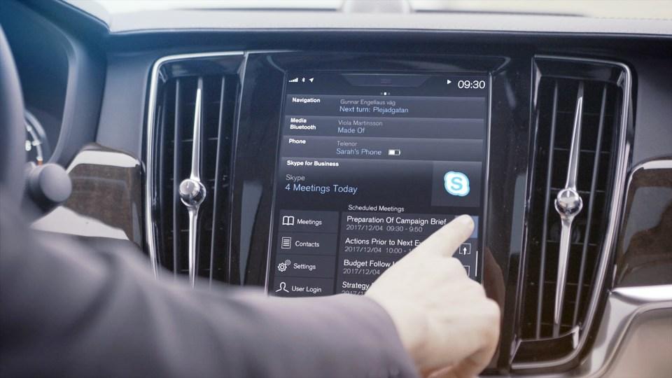 Volvo впервые установила вавтомобиль «Скайп»