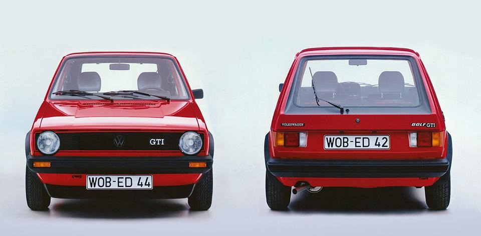 Вот втаком виде Golf GTI пошел всерию. Правда, яркий цвет маскировал главное отличие GTI отобычного «Гольфа»— красную полоску нарешетке радиатора. Акак вам двухцветная окраска задней двери (нафото справа)?