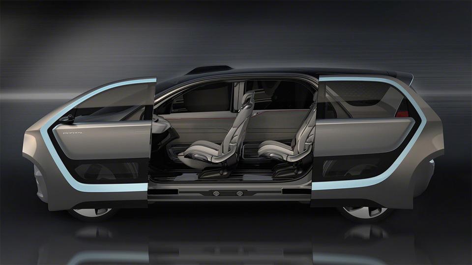 Прототип Chrysler Portal укомплектовали системой распознавания лиц. Фото 1