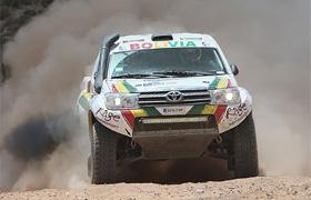 Вобщем зачете первые три места заняли пилоты Peugeot, «Тойота»— четвертая. Фото 1