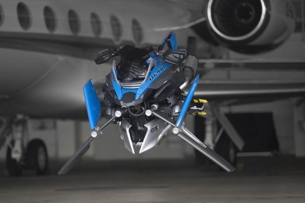 Какими станут мотоциклы БМВ будущего— BMW Hover Ride