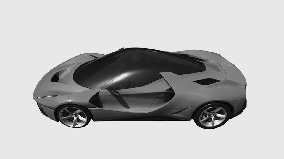 Компания Феррари запатентовала «загадочное» купе встиле гиперкара LaFerrari