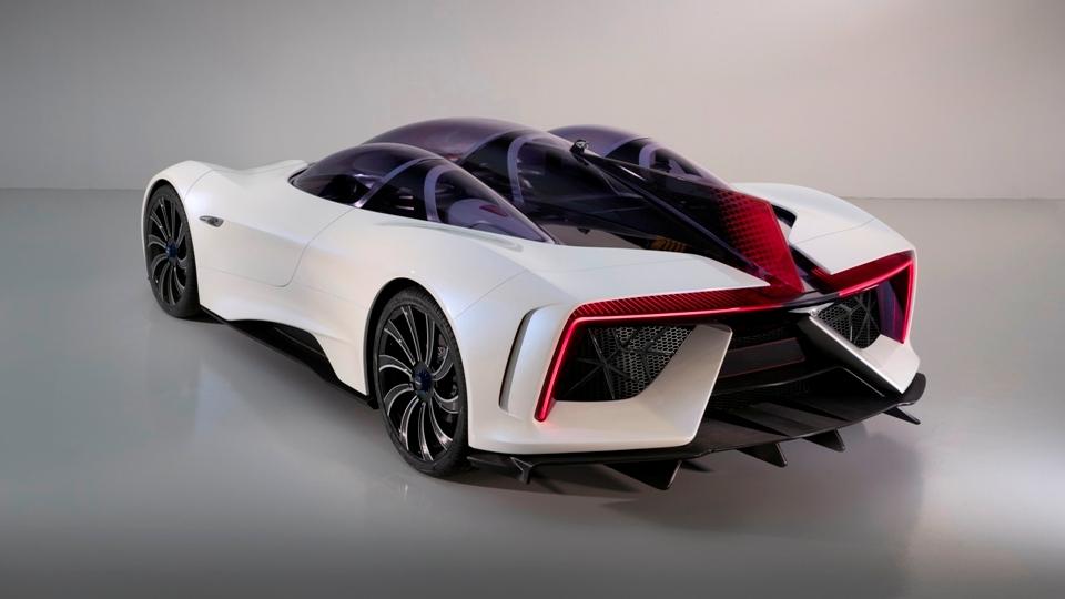 Techrules представила вЖеневе гибридный суперкар сшестью моторами