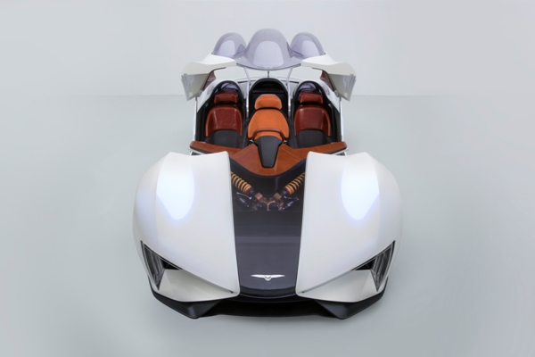 Китайцы изумили весь мир, показав гибридный суперкар сшестью моторами