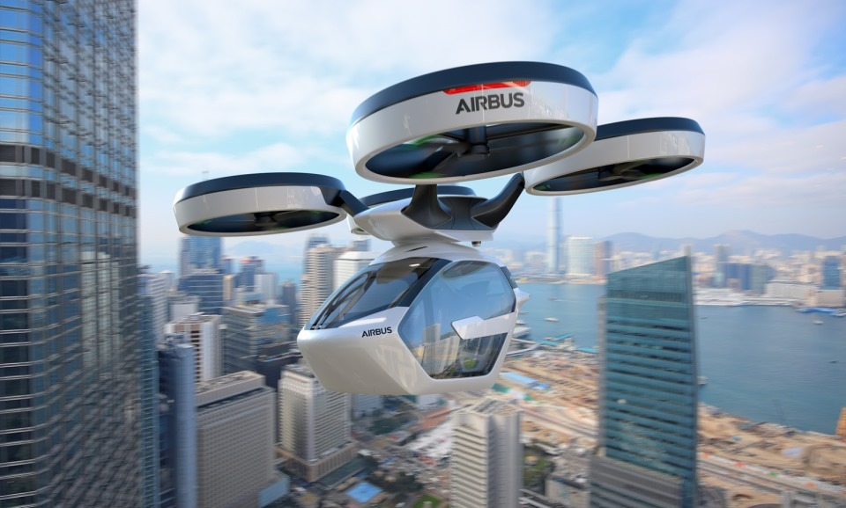Italdesign иAirbus представили летающий автомобиль