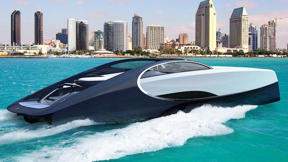Бугатти создала яхту сместом для костра